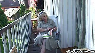 Fucking old mother in law outside