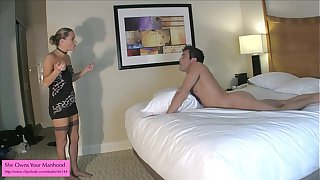 Ballbusting BJ from Kinky Porn Mom