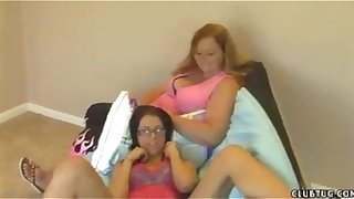 Mother And Daughter Handjob