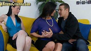 Sammy Brooks And Violet Snow Creampie Threesome