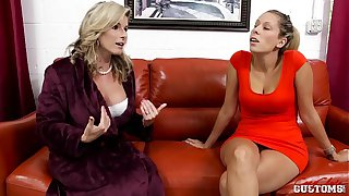Cory Chase and Nikki Brooks in Mother vs Daughter Lesbians
