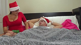 Melanie Hicks in Auntie's Christmas Gift- MILF aunt fucks nephew gets creampie
