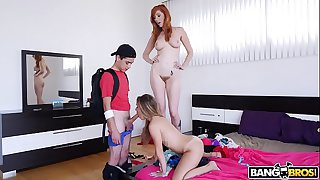 BANGBROS - Stepmom Threesome Lilly Ford, Lauren Phillips, & Juan El Caballo Loco