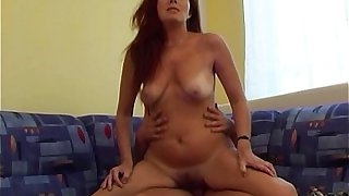 Fucking My Sexy Redhead Stepmom In Livingroom couch