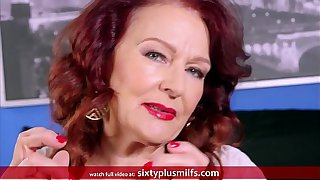 Redhead Granny Gives A Good Blowjob