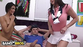BANGBROS - Young Veronica Rodriguez Gets Caught Fooling Around With Her BF By Cougar Step Mom