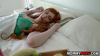Hot stepmom gets her son's cock as mother's day treat