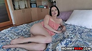 Step son's last chance to get footjob and sex from mommy