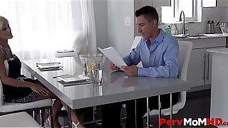 Sexy Stepmom With Huge Boobs Olivia Blu Seduces Horny Stepson POV