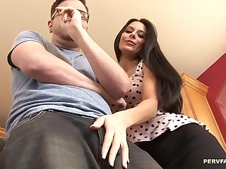 Hot MILF craving for her Stepson'_s dick