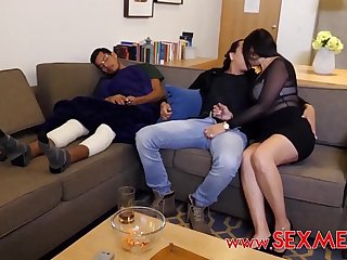 I FUCKED MY SEXY &_ HORNY FRIEND'_S BUSTY MOM WHILE HE'_S SLEEPING