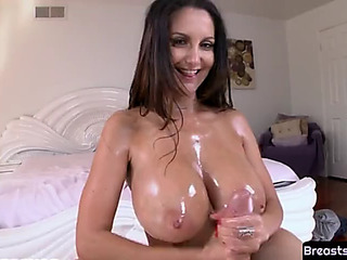 Tittyfucked mother i'd like to fuck fucked on her back
