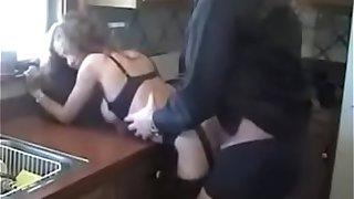 HotWifeRio sexy mother in stockings strips down for her son and rides his cock