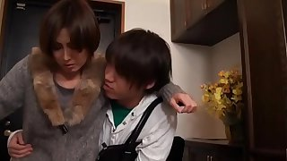 Hot Asian Japanese Mom fucks her Young Son