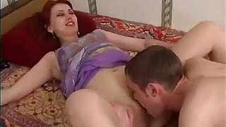 Iren - redhead russian mature mom and a friend of her son
