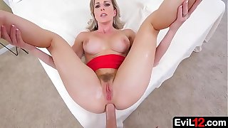 Cheating blonde stepmom anally fucked by son