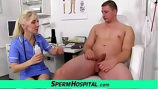 Blonde doctor Milf Maya CFNM and dirty handjob