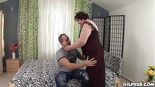 Old granny fucked by young perverted stud