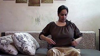 Mom catches son sniffing her panties and wanking POV
