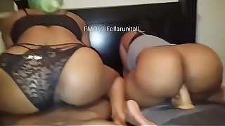 Black Mom threesome and her own Black Mom threesome and her own son