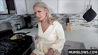 Perv Son ambushed Mom in the kitchen