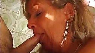 Fuckin At 50 #18 - Lady Mary - Slut MILF in her 50s fucks in the kitchen