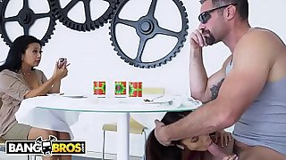 BANGBROS - Petite Young Babe Vina Sky Pisses Off Mommy By Fuckig A Douche