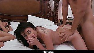 FILF - Horny Teen Stepdaughter Fucks Her Stepdad Right Next To s. Mom